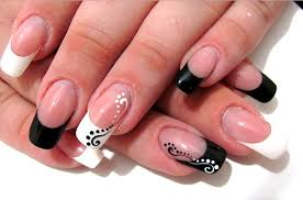 black and glitter nails black stiletto acrylic nail designs