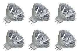 6 pack dc 12v 20w halogen light bulb mr11 spot light 12vmonster
