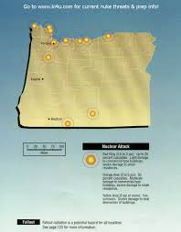 Medford Oregon Map by Nuclear War Fallout Shelter Survival Info For Oregon With Fema
