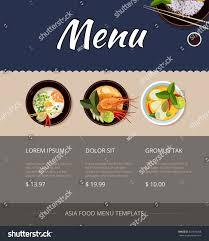 thai food menu template design price stock vector 343976468