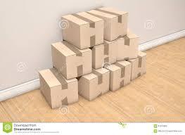 Cardboard House by Cardboard Box Pile House Stock Photo Image 61879858