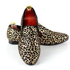 harpelunde leopard printed men dress shoes fashion wedding shoes