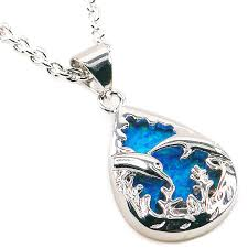 opal necklace silver images Sea blue fire opal sterling silver pendant nadine jardin jpg
