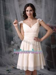 quince dama dresses knee length white damas dresses for quince with flounced straps