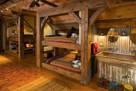 Rustic Kids Bed Kids Rustic With Builtin Bunk Beds Builtin Bunk - Kids built in bunk beds
