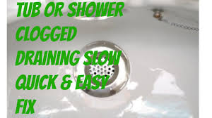 Bathtub Drains Slow Bathroom Tub Shower Clogged With Hair Slow Drain Easy Fix Youtube