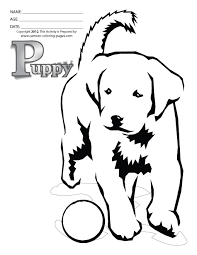 puppy coloring pages