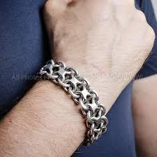 mens silver solid bracelet images Mens chunky sterling silver quot figure 8 quot bracelet x 20mm jpg