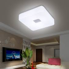 Light Fixtures For Living Room Ceiling Free Shipping Modern Led Flush Mount Surface Mounted Square Shape