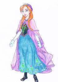 princess anna frozen walt disney chb diana deviantart