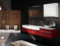 bathroom awesome big wall mirror combined with black glass vanity
