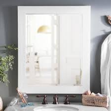 White Bathroom Cabinet With Mirror - framed mirrors bathroom mirrors kirklands