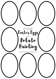 easter egg potato stamping w printable template in the kids