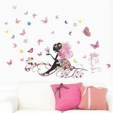top 10 wall stickers for decor your room top shop wall sticker laimeng new butterfly flower fairy bedroom living room decal