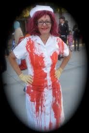 killer doctor fancy dress halloween costume with bloody