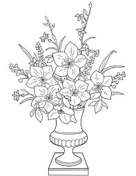 Flowers In A Vase Images Flowers In A Vase Coloring Page For Kids Free Printable Picture