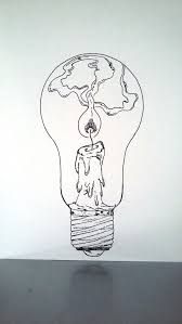 drawing ideas affiche illustration noir et blanc oule tenir une le allumée