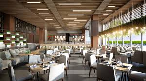 midtown athletic club serves up details on new hotel s restaurant a rendering of the dining room dmac architecture