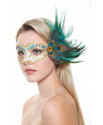 peacock masquerade mask it masquerade mask with peacock feathers