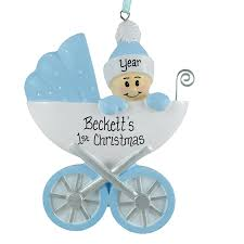 baby boy s 1st carriage ornament personalized