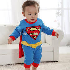 Superman Halloween Costume Toddler 2017 Ems Baby Romper Superman Long Sleeve Baby Dress Smock Infant