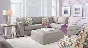 Grey Slipcover Chair Sectional Sofa Sets Large U0026 Small Sectional Couches