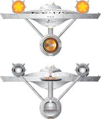Star Trek Enterprise Floor Plans by Original Enterprise Front And Rear Views Star Trek Canon By