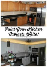 White Painted Kitchen Cabinets Kitchen Cabinet Makeover With General Finishes Snow White And