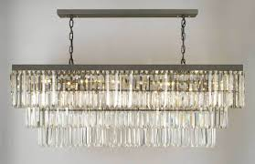 dining room rectangular crystal chandelier dining room with