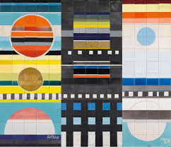 ettore sottsass pattern collor mosaique italian industrial