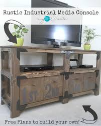 Diy Rustic Desk by Rustic Media Console Archives Diy Done Right