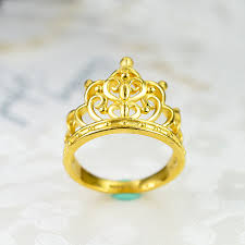 gold crown rings images Gold ring full gold 999 female ring 3d hard gold crown ring jpg
