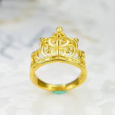gold crown rings images Gold ring full gold 999 female ring 3d hard gold crown ring jpg