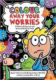 colour worries calming colouring drawing book