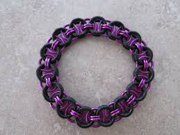 make rubber bracelet images Black rubber chainmaille bracelets silverspringdesignz jpg