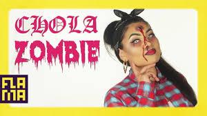 chola zombie halloween makeup tutorial ft sheslulu youtube