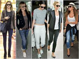 travel clothing images What to wear to the airport for a celebrity look the trend spotter jpg