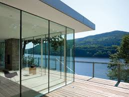 lake house above rur reservoir in germany is minimalist masterpiece