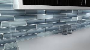 deep ocean blue gentle grey glass tile perfect for kitchen