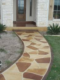 Stain Concrete Patio by Stained Concrete Porches And Patios