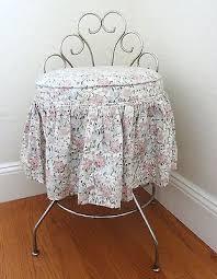 Swivel Vanity Stool Vintage Mid Century Vanity Stool Metal Swivel Dressing Seat With