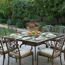 tile patio table elegant darlee santa barbara 9 piece cast aluminum