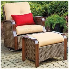 Glider Chair With Ottoman Wilson U0026 Fisher Tuscany Resin Wicker Set Of 2 Cushioned Glider