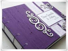 purple guest book unique wedding guest book vintage guest book bridal shower