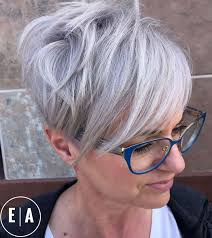 funky hairstyle for silver hair 258 best hair images on pinterest pixie cuts amor and for women