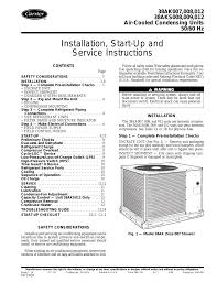 carrier 38ak012 user manual 16 pages also for 38ak007