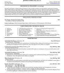 Mechanical Engineering Resume Templates Download Junior Mechanical Engineer Sample Resume