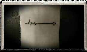 images of heart beat line tattoo sc