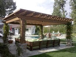 deco pergola avec idyllic patio home furniture showcasing