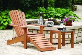 chair with built in ottoman outdoor interiors cd3111 eucalyptus adirondack chair and built in